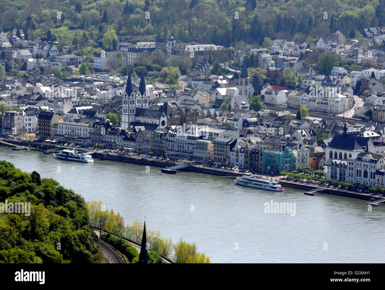 Rhine River At Boppard Stock Photos & Rhine River At ...
