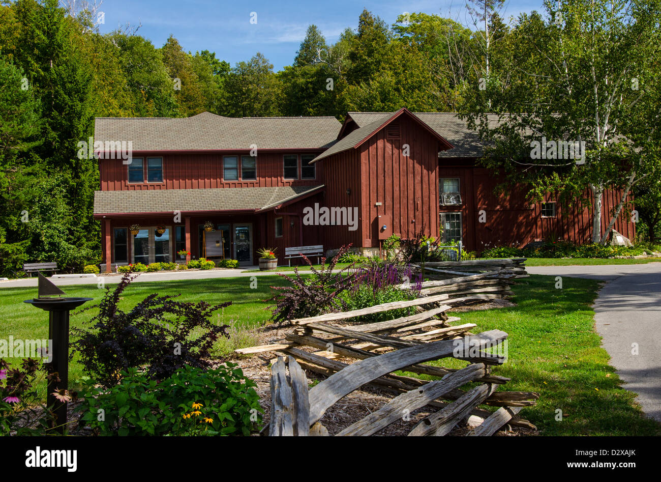The Anderson Barn History Center in the Door County town of Ephraim, Wisconsin Stock Photo
