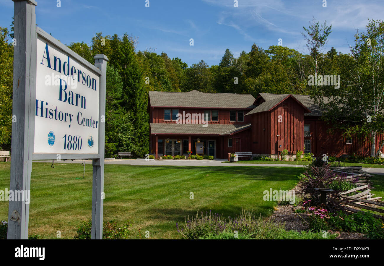The Anderson Barn History Center in the Door County town of Ephraim, Wisconsin - Stock Image