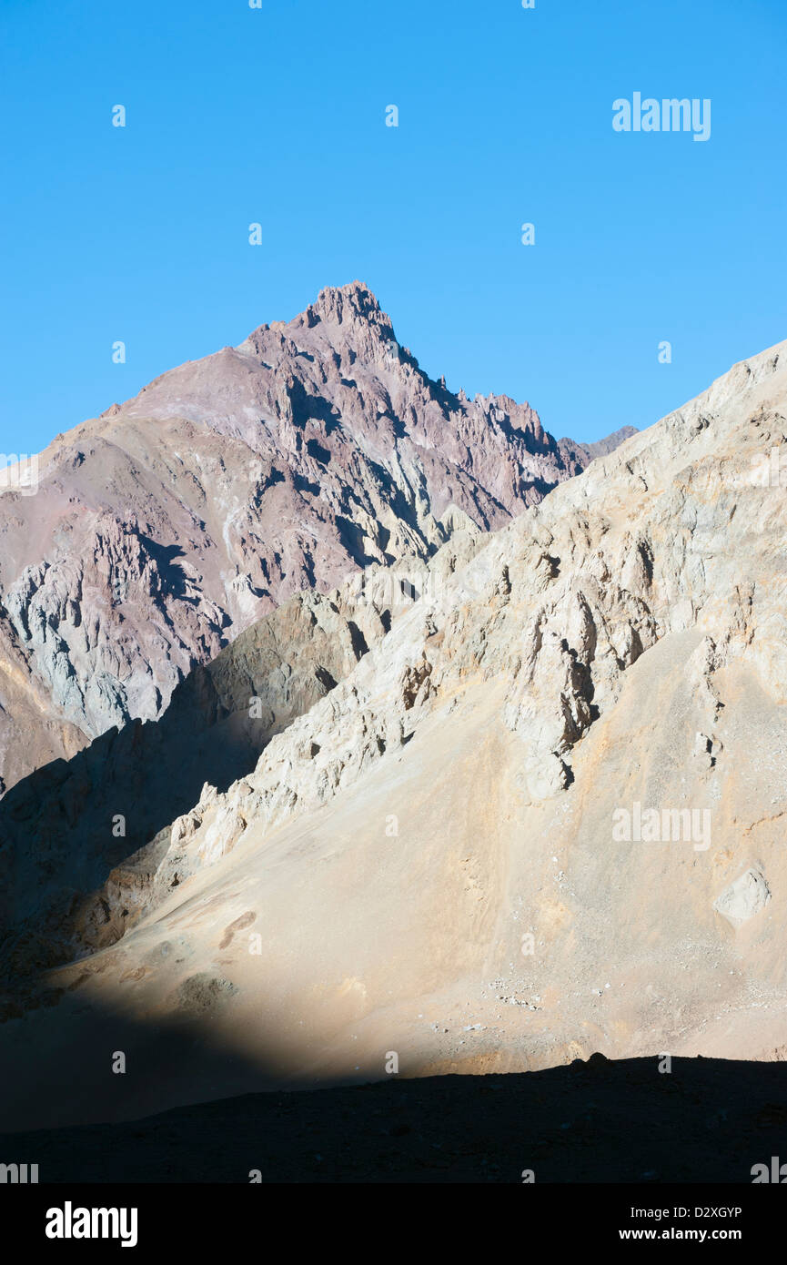 Aconcagua Provincial Park, the Andes mountains, Argentina, South America - Stock Image