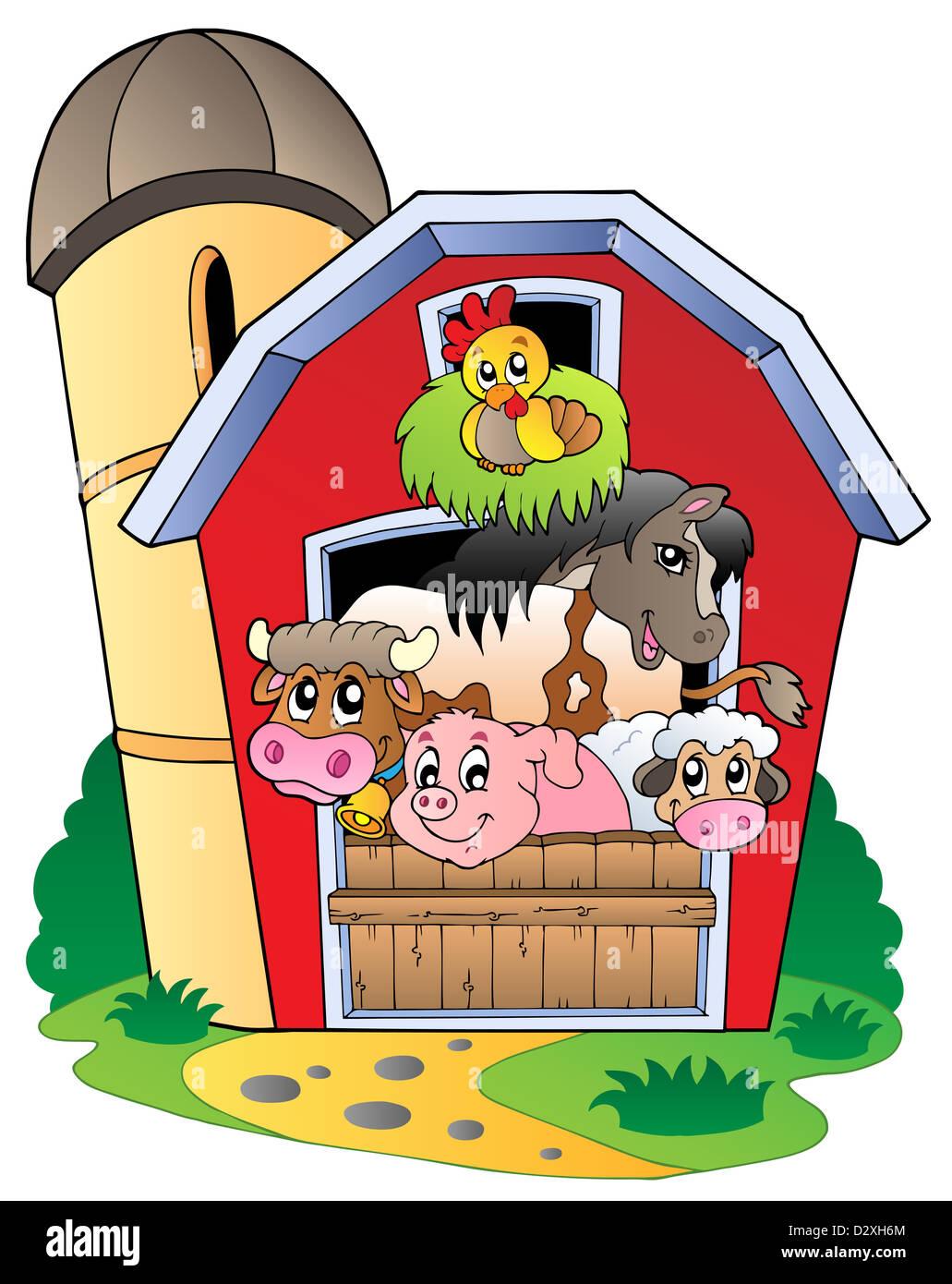 Farmyard Barn Cartoon Stock Photos Farmyard Barn Cartoon