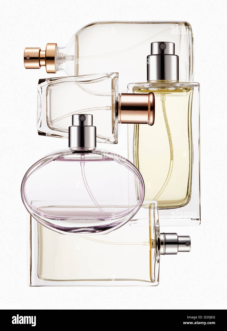 Close up of perfume bottles - Stock Image