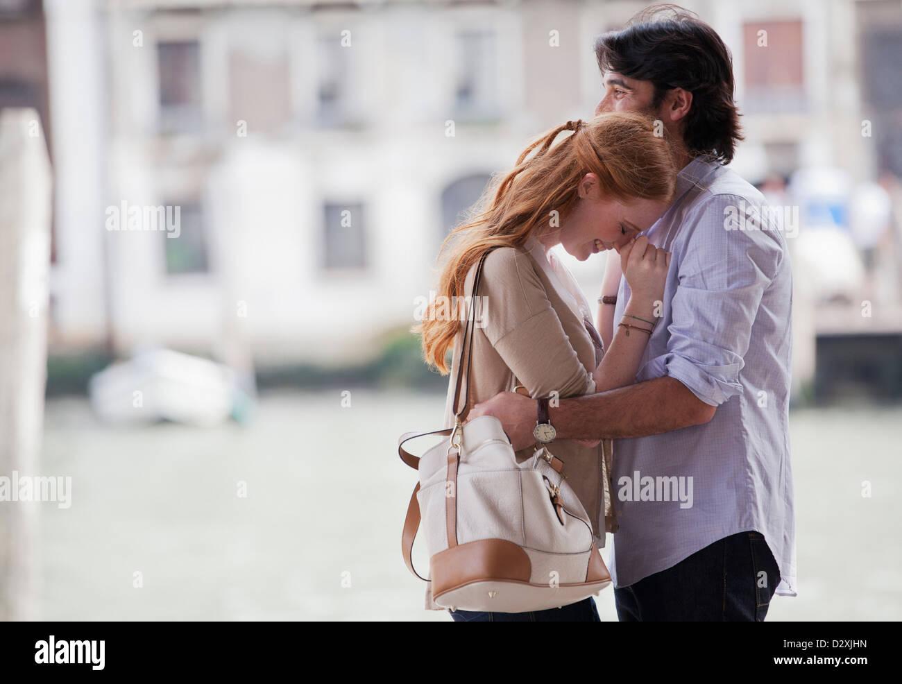 Happy couple hugging - Stock Image