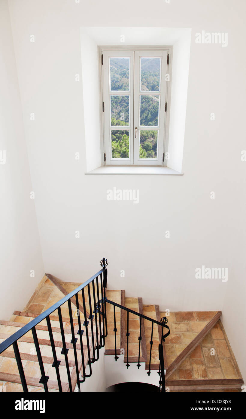 Staircase of luxury home - Stock Image