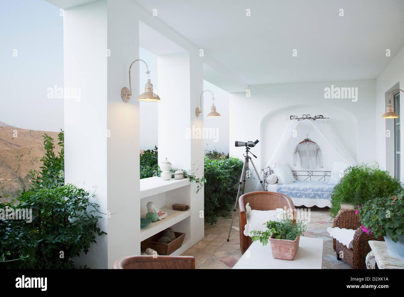 Luxury balcony - Stock Image