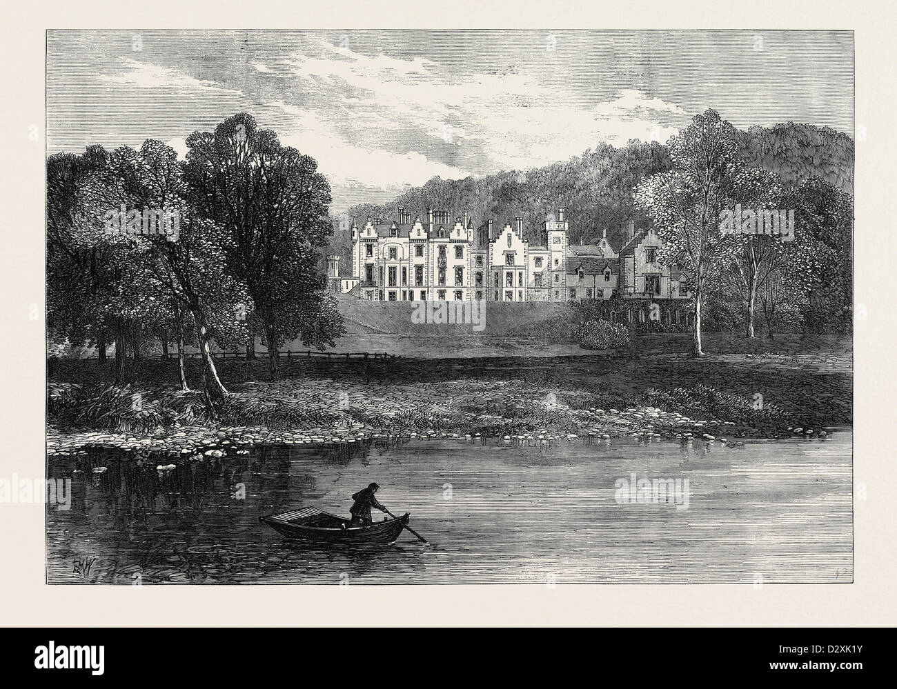 ABBOTSFORD 1871 - Stock Image
