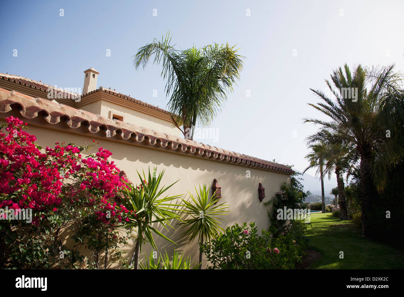 Spanish villa - Stock Image