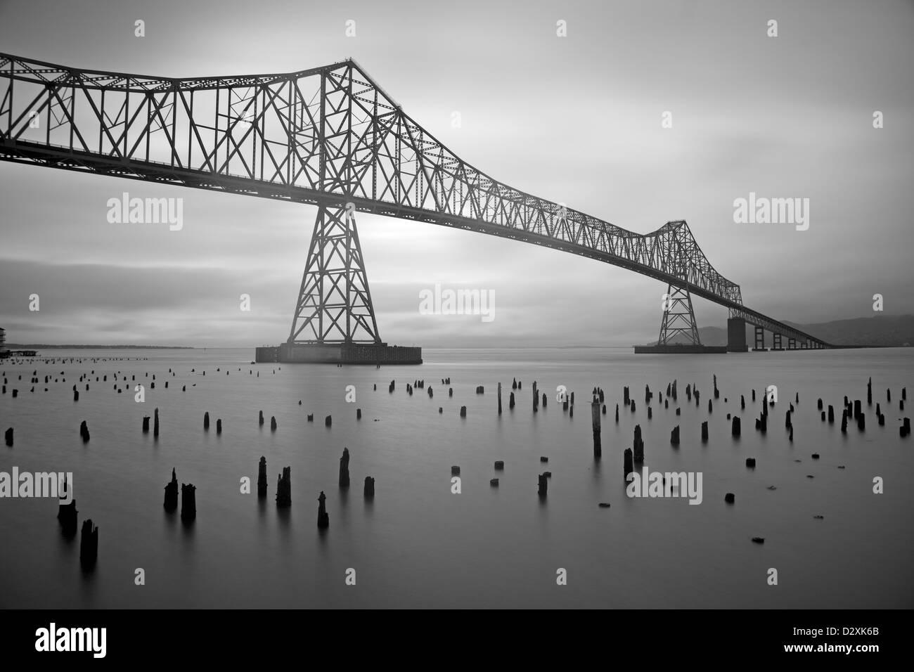 Astoria Bridge in Oregon Stock Photo