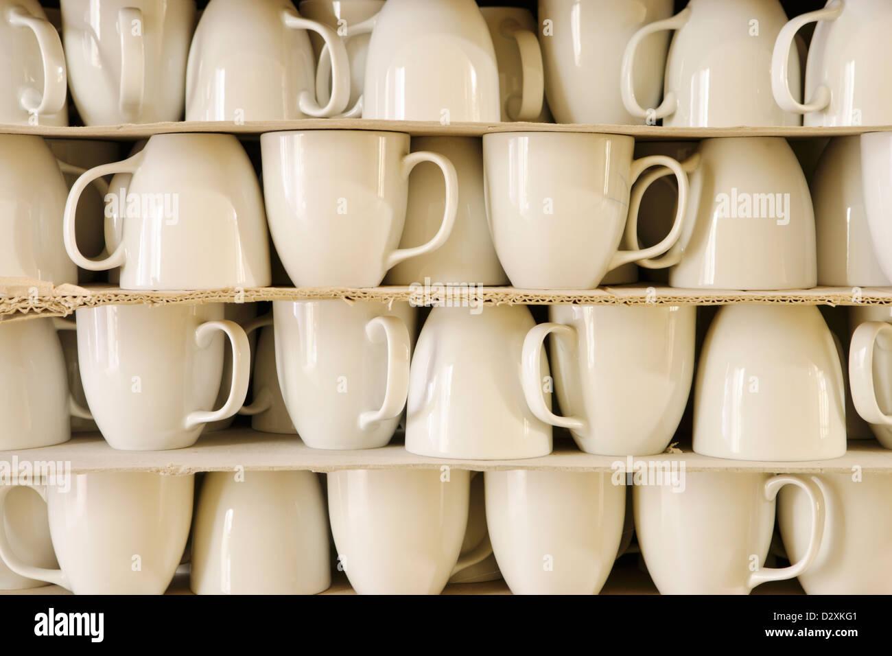 white porcelain - Stock Image
