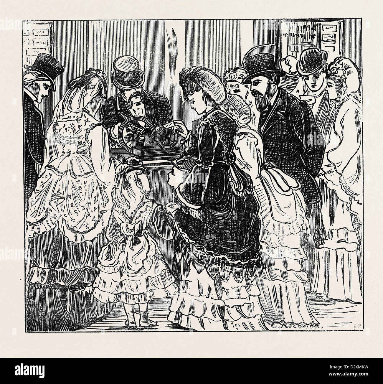 SKETCHES IN THE INTERNATIONAL EXHIBITION: A HUNDRED CARDS IN ONE MINUTE 1871 - Stock Image