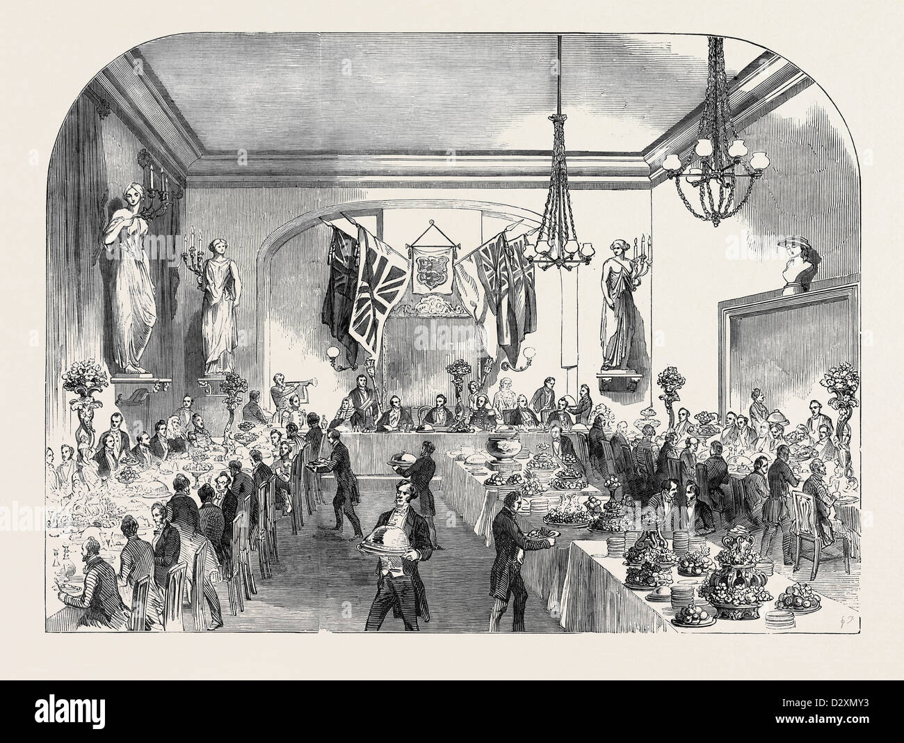 GRAND BANQUET TO THE LORD MAYOR OF LONDON, AT HASTINGS Stock Photo