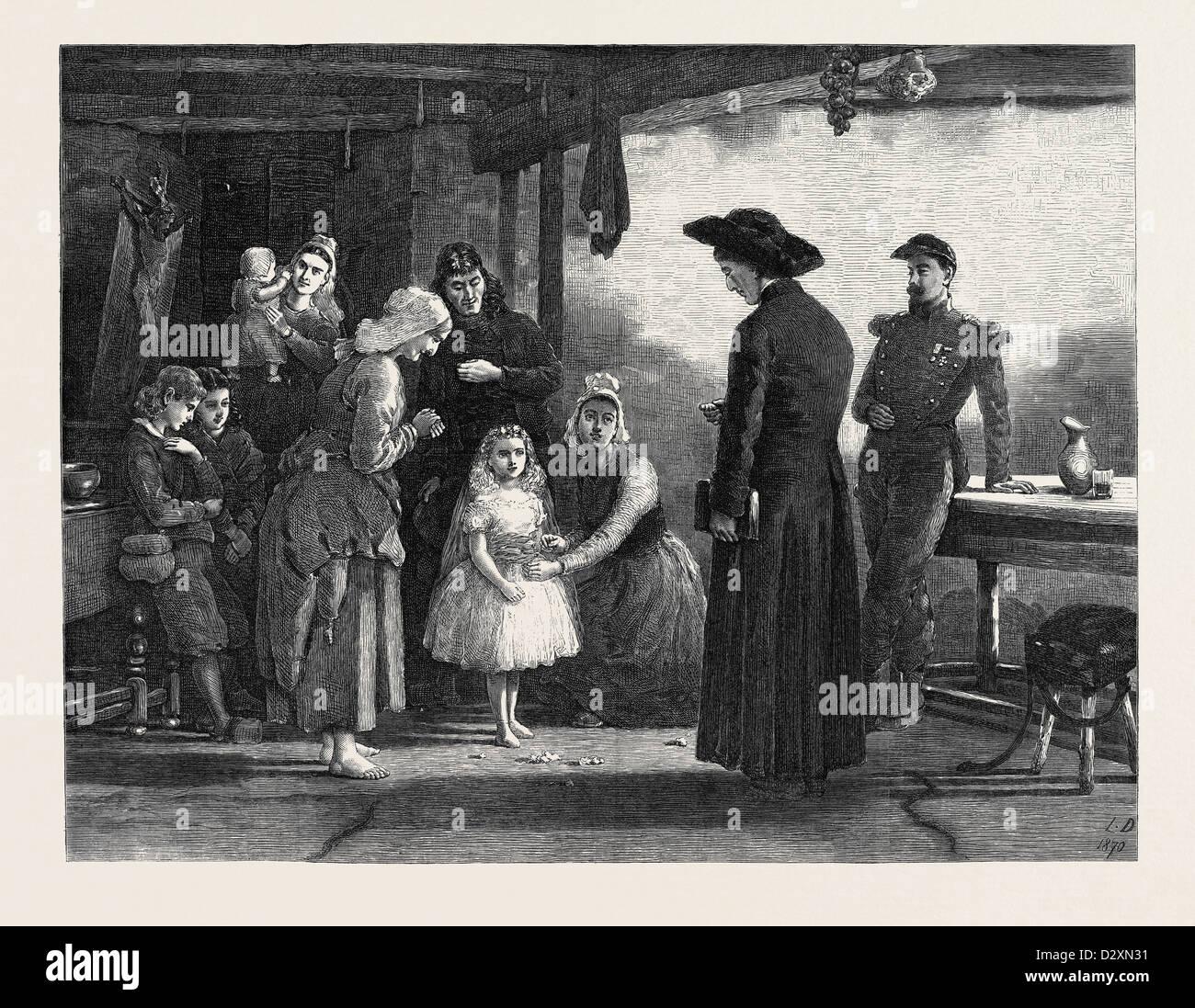 THE FETE DE LA VIERGE BY LAURENCE DUNCAN 1871 - Stock Image