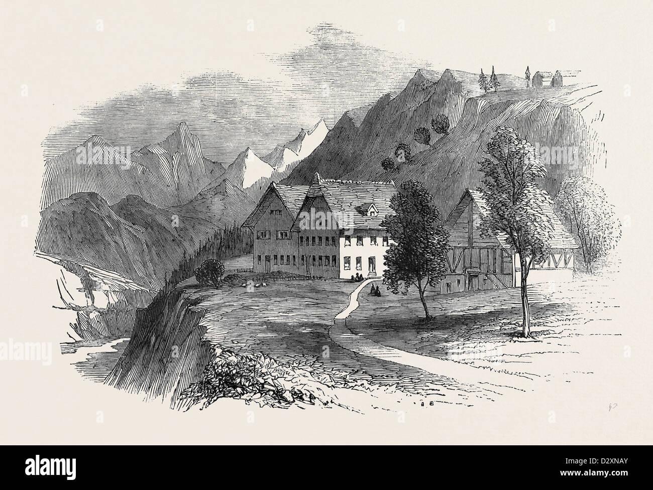 INSTITUTION FOR CRETINS AT INTERLACKEN, SWITZERLAND - Stock Image