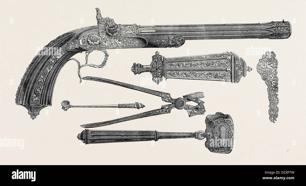 PISTOL AND APPENDAGES, CLAUDIN - Stock Image