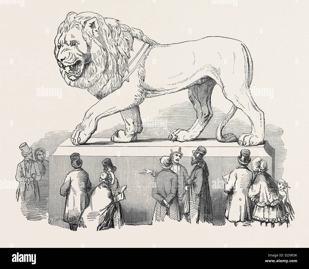 COLOSSAL BAVARIAN LION, THE GREAT EXHIBITION - Stock Image