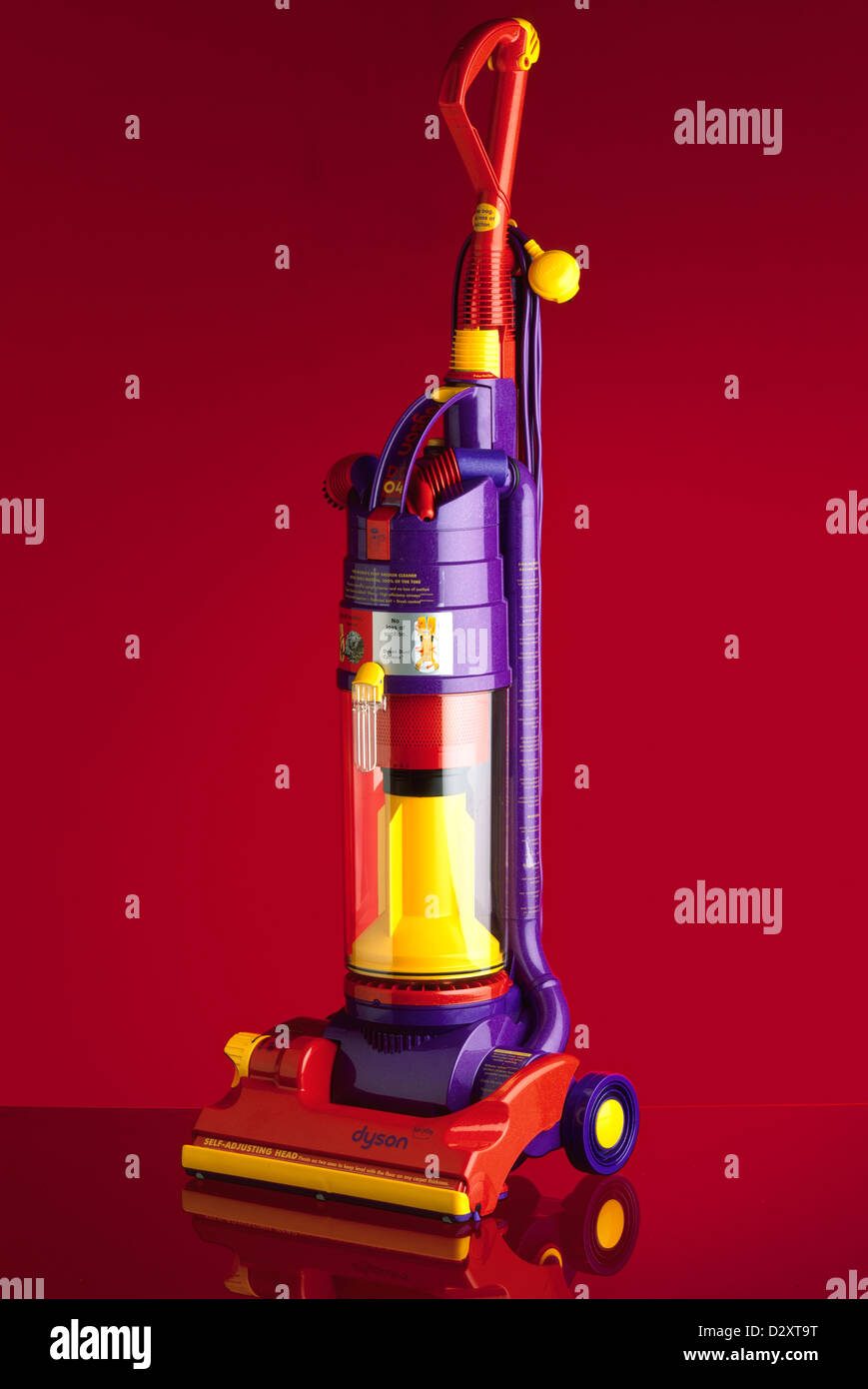 dyson dc04 de stijl upright vacuum cleaner on glass red background stock photo 53450260 alamy