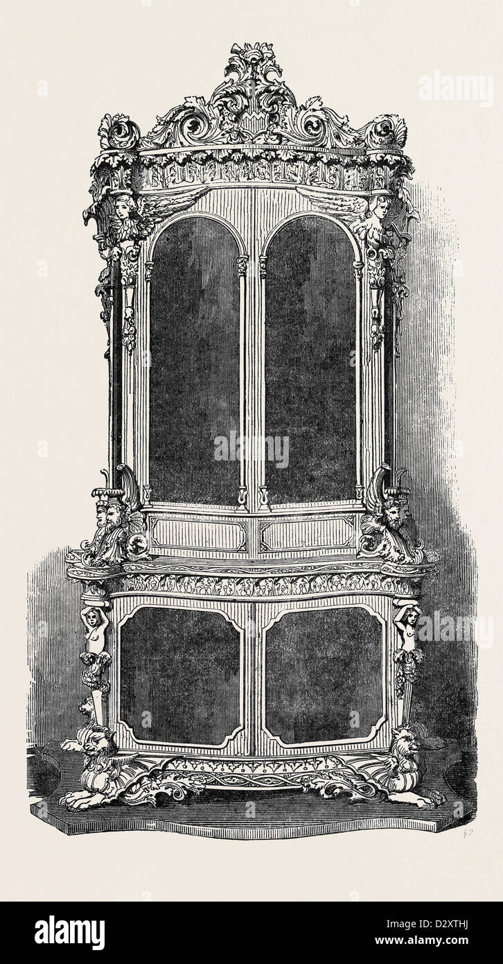 CABINET BY W. AND C. FREEMAN, NORWICH - Stock Image