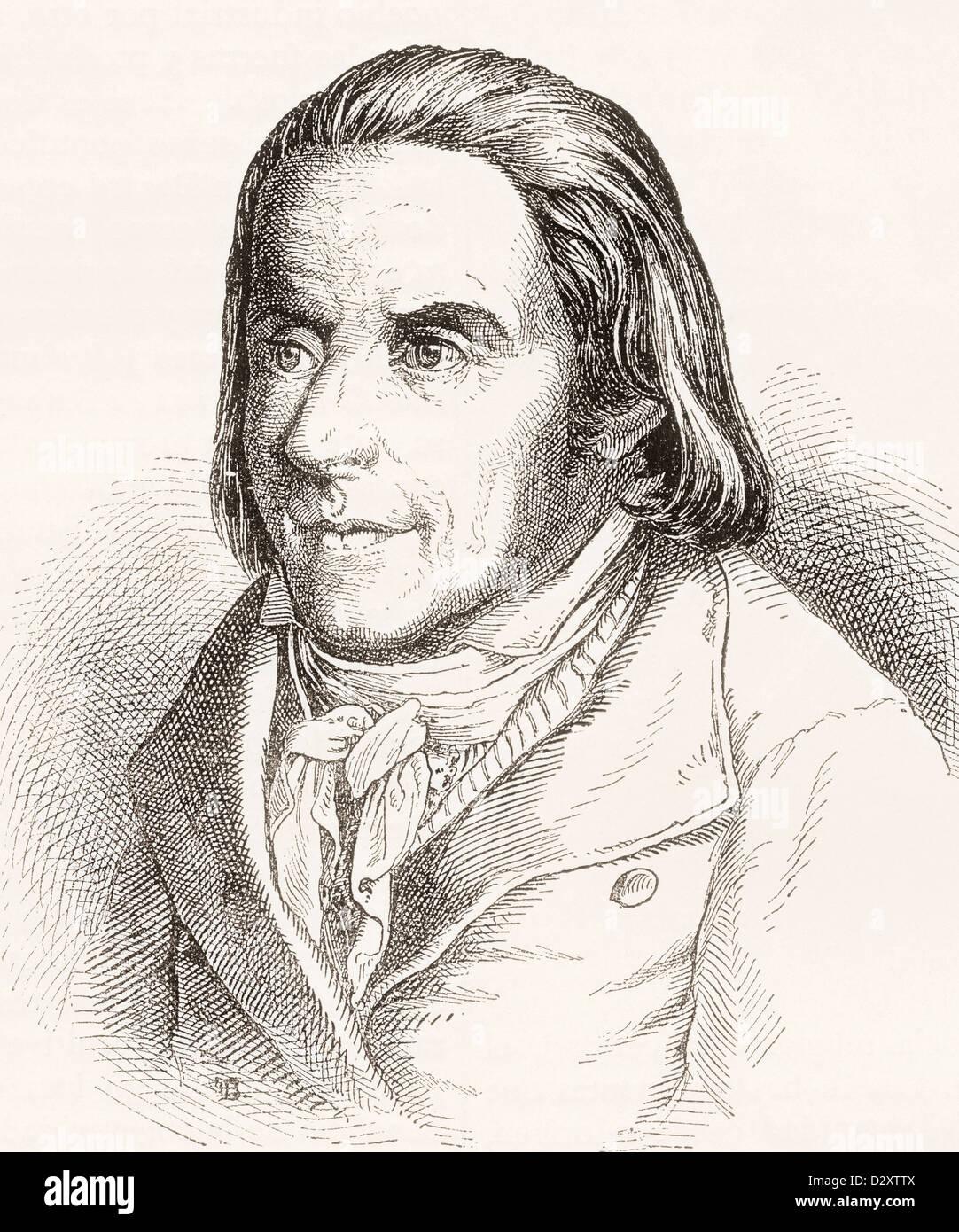Johann Heinrich Pestalozzi, 1746 – 1827. Swiss pedagogue and educational reformer. - Stock Image