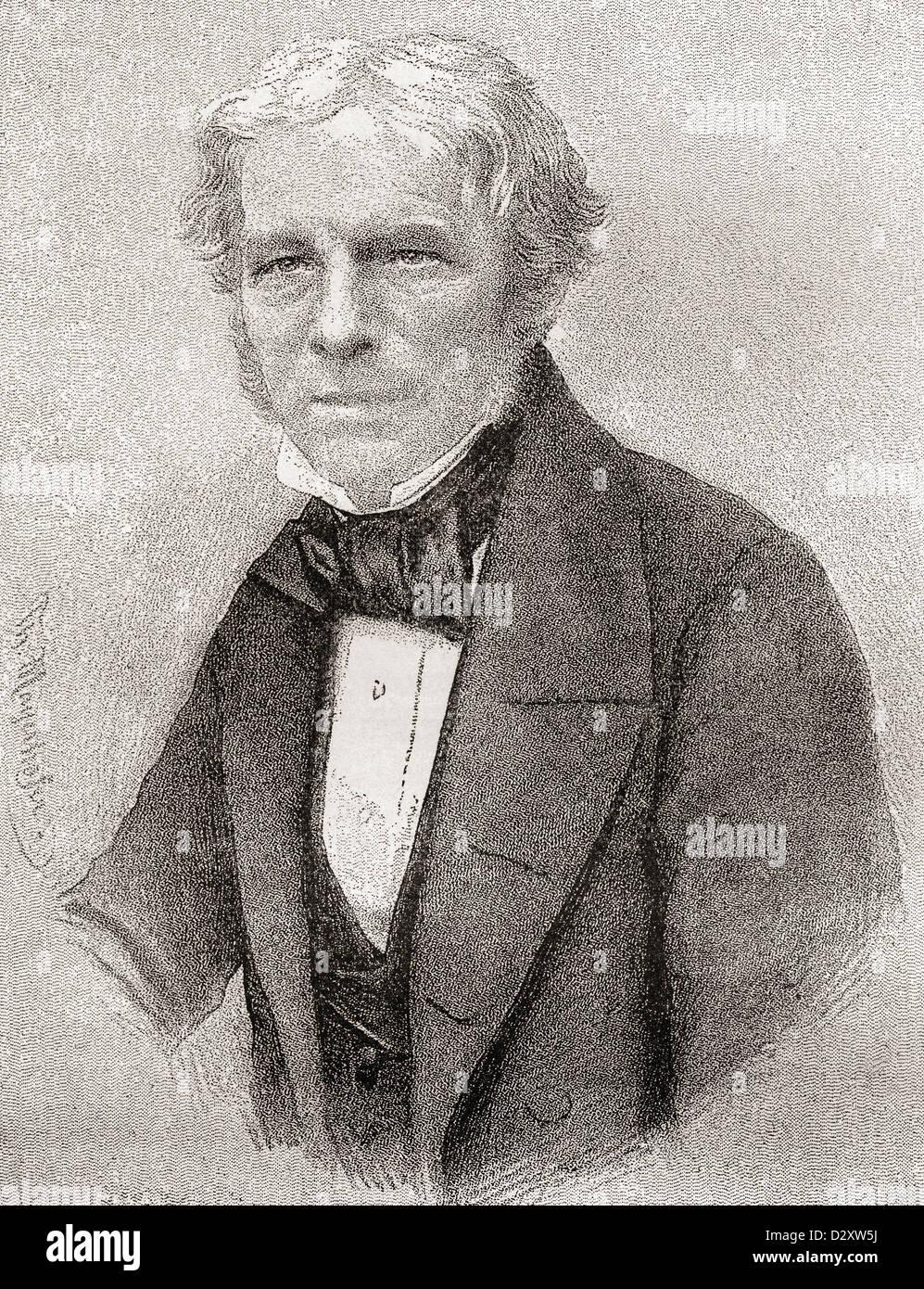 Michael Faraday, 1791 –1867. English scientist. - Stock Image