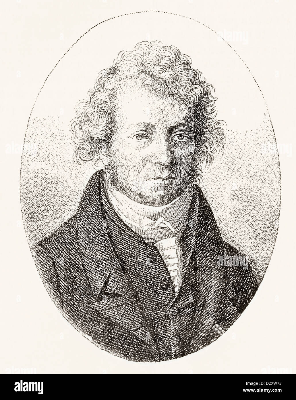 André-Marie Ampère, 1775 – 1836. French physicist and mathematician. - Stock Image