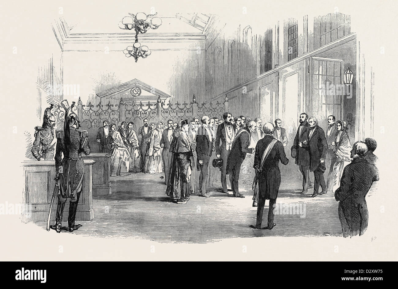 RECEPTION OF THE LORD MAYOR OF LONDON, AT THE RAILWAY TERMINUS AT PARIS - Stock Image
