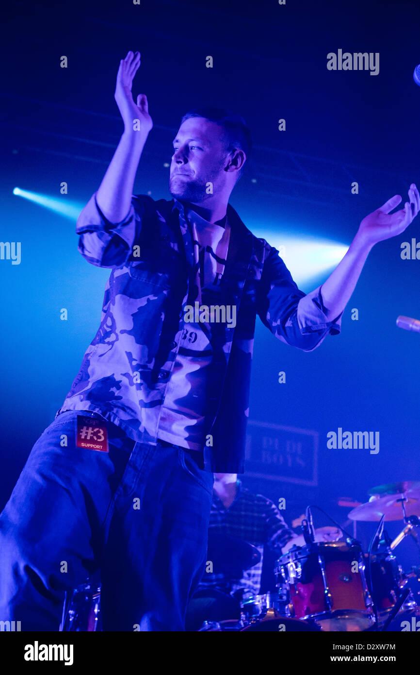 January 29, 2013 - The Original Rudeboys, Irish acoustic hip hop band from Dublin, live at the Alcatraz, Milan, Stock Photo