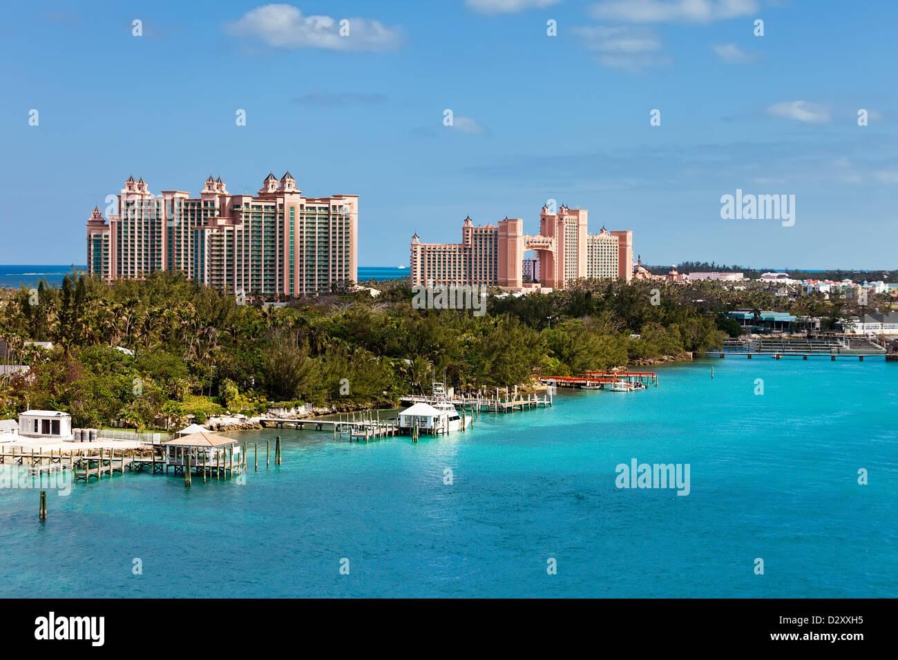 View of Paradise Island in Nassau, Bahamas - Stock Image