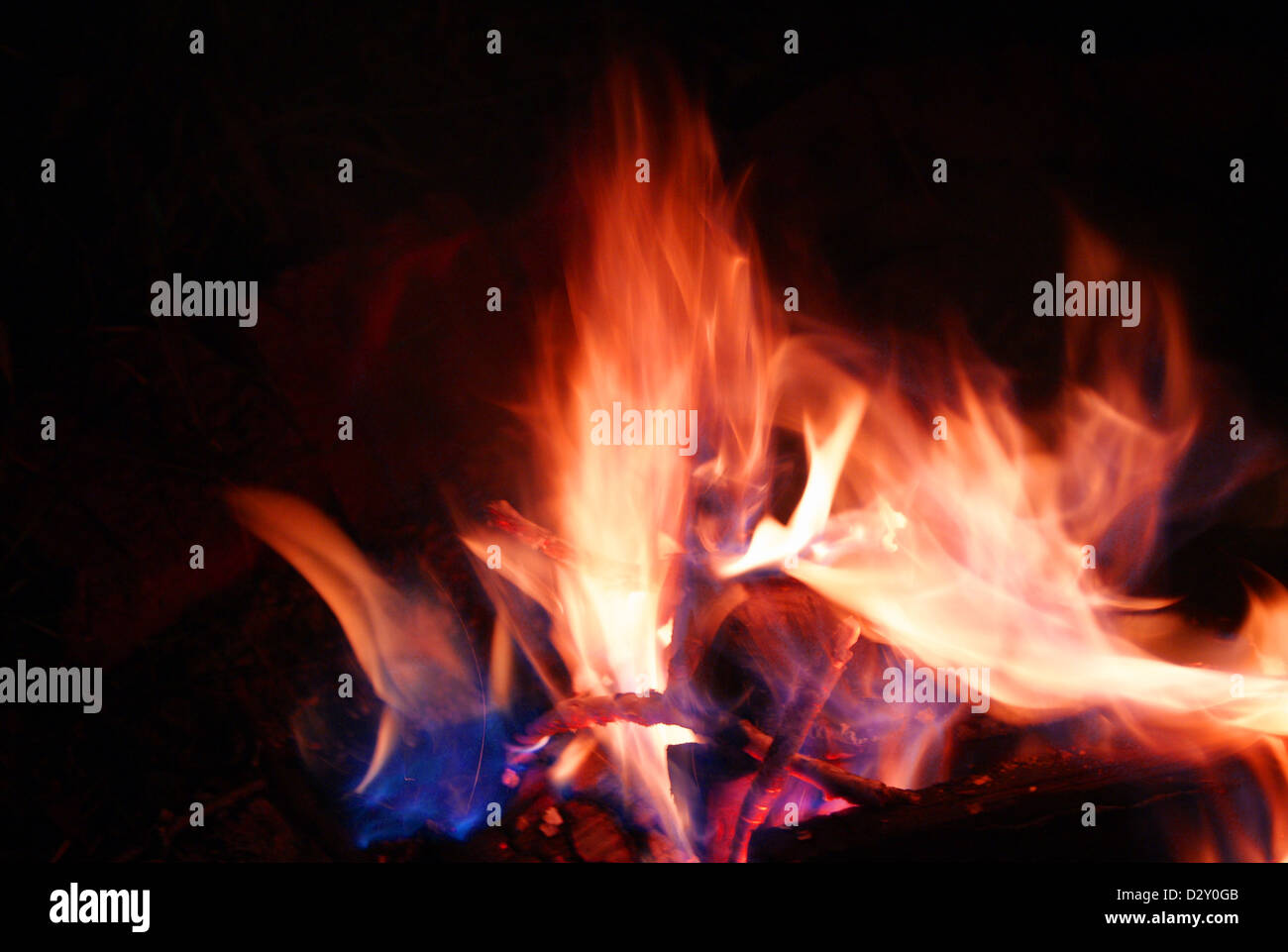 Live fire Stock Photo