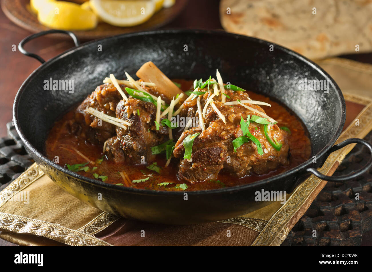 Lamb Nihari Pakistan India Bangladesh Food - Stock Image