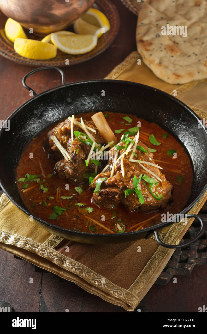 Lamb Nihari Pakistan India Bangladesh Food - Stock Image
