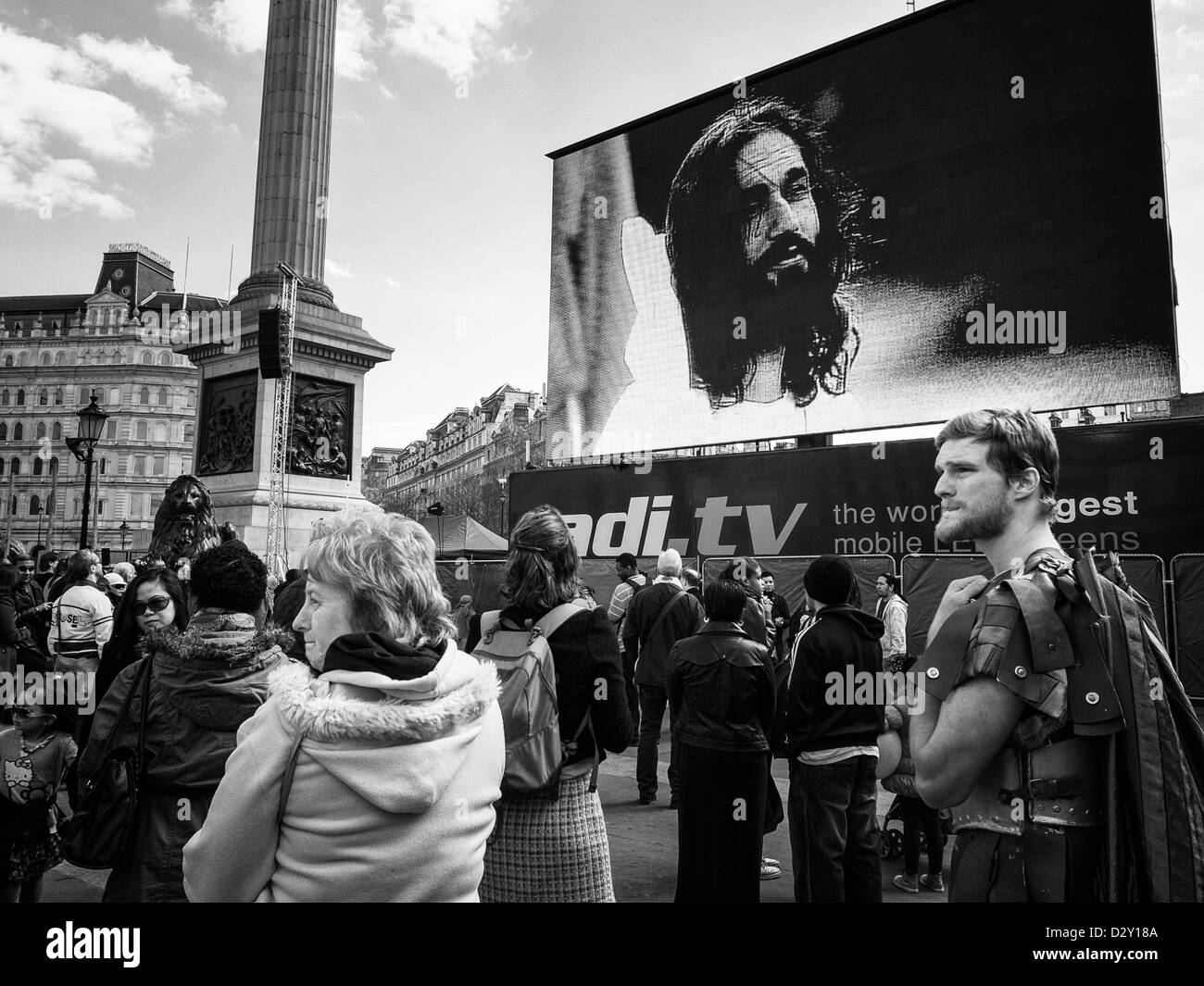 passion play on trafalgal square - Stock Image