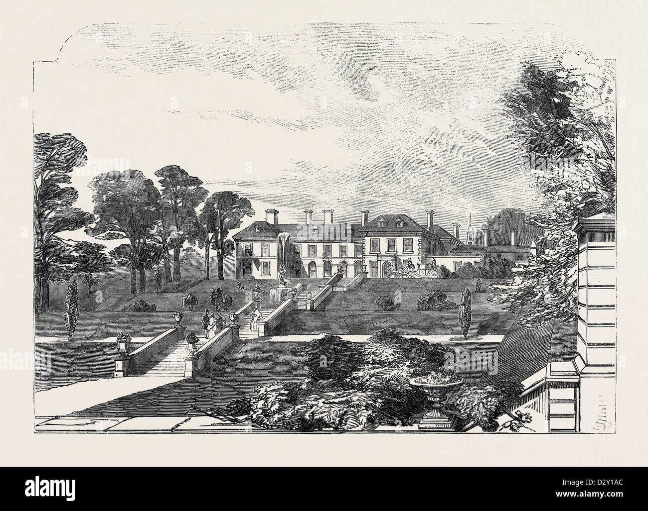 GLOSSOP HALL, DERBYSHIRE, 1852 Stock Photo