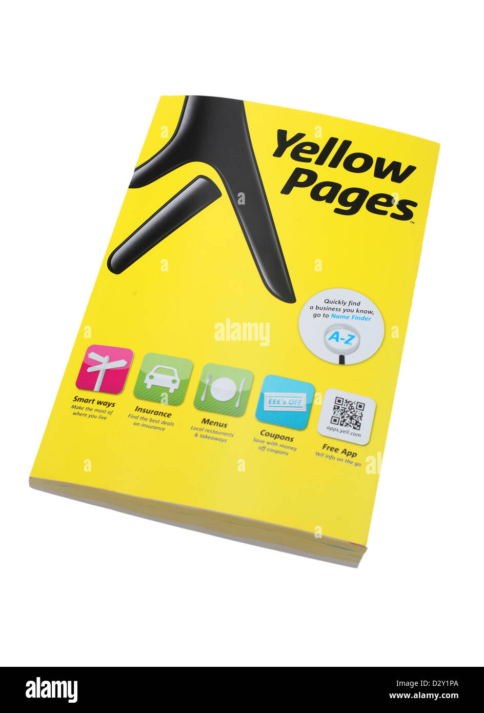 Yellow Pages Telephone Directory. Stock Photo