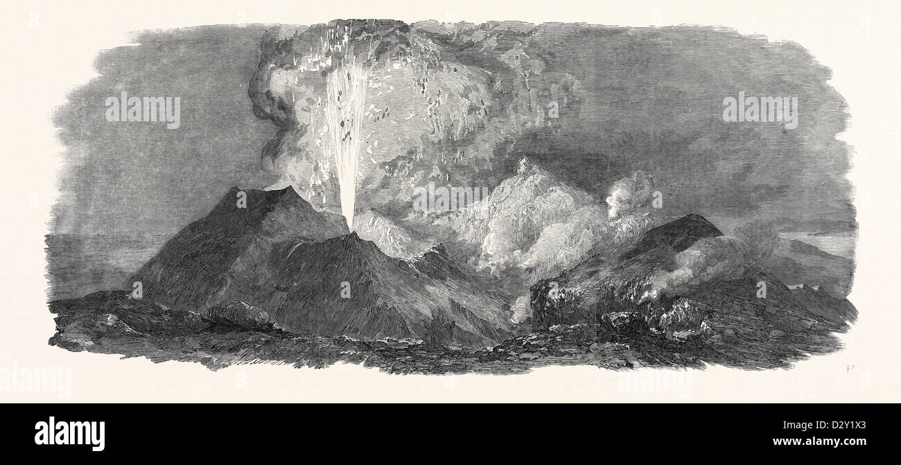 ETNA IN ERUPTION, 1852 Stock Photo