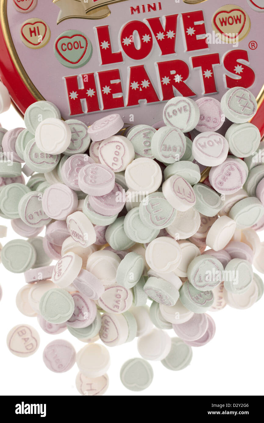 Mini Love Hearts - Stock Image