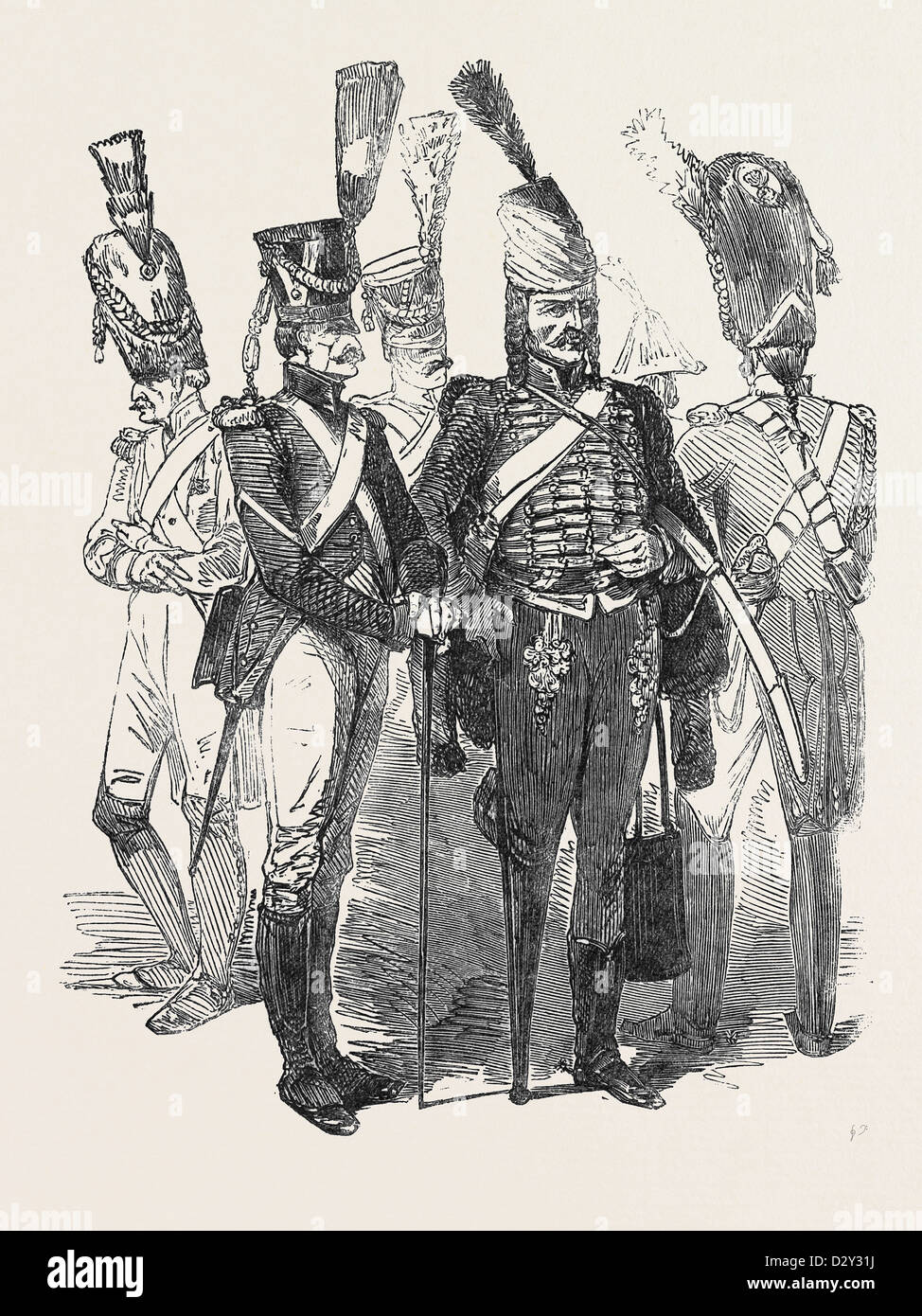 OLD SOLDIERS OF THE FRENCH EMPIRE, 1852 - Stock Image