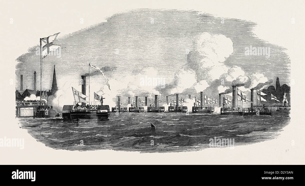 THE CITY STEAMBOAT COMPANY'S VESSELS. - Stock Image