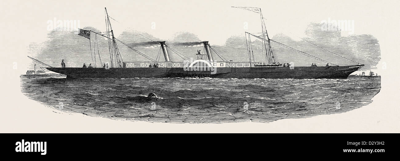 THE 'WAVE QUEEN' STEAMER, 1852 - Stock Image