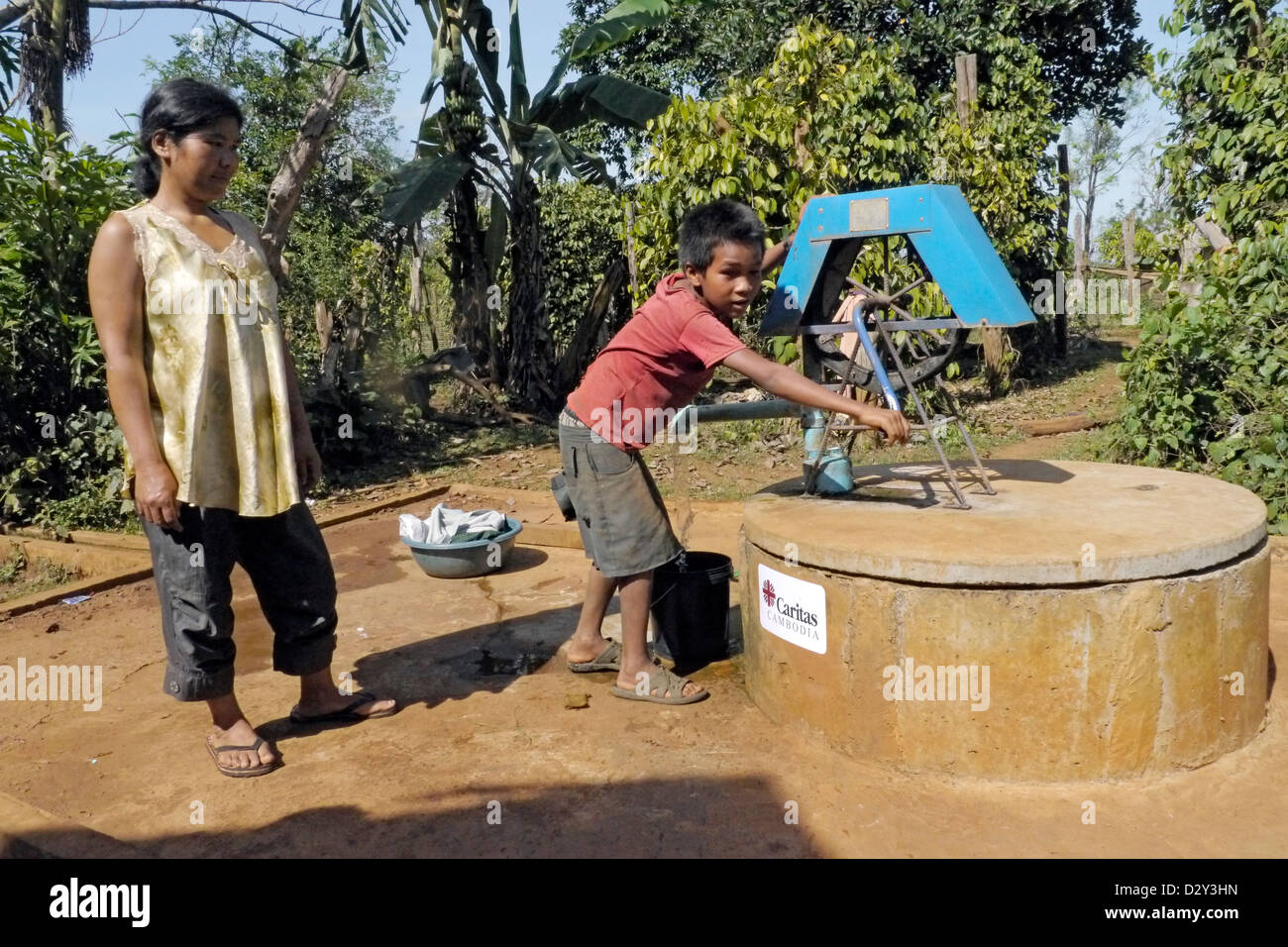 cambodia photography by projects caritas funded sciaf lameis village bousra commune pichrda district - Stock Image