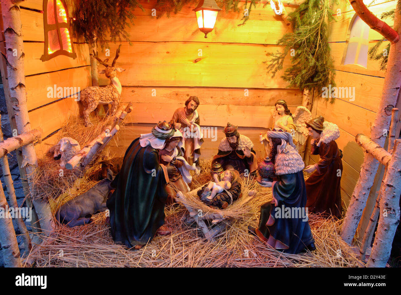 crib Bethlehem creche - Stock Image