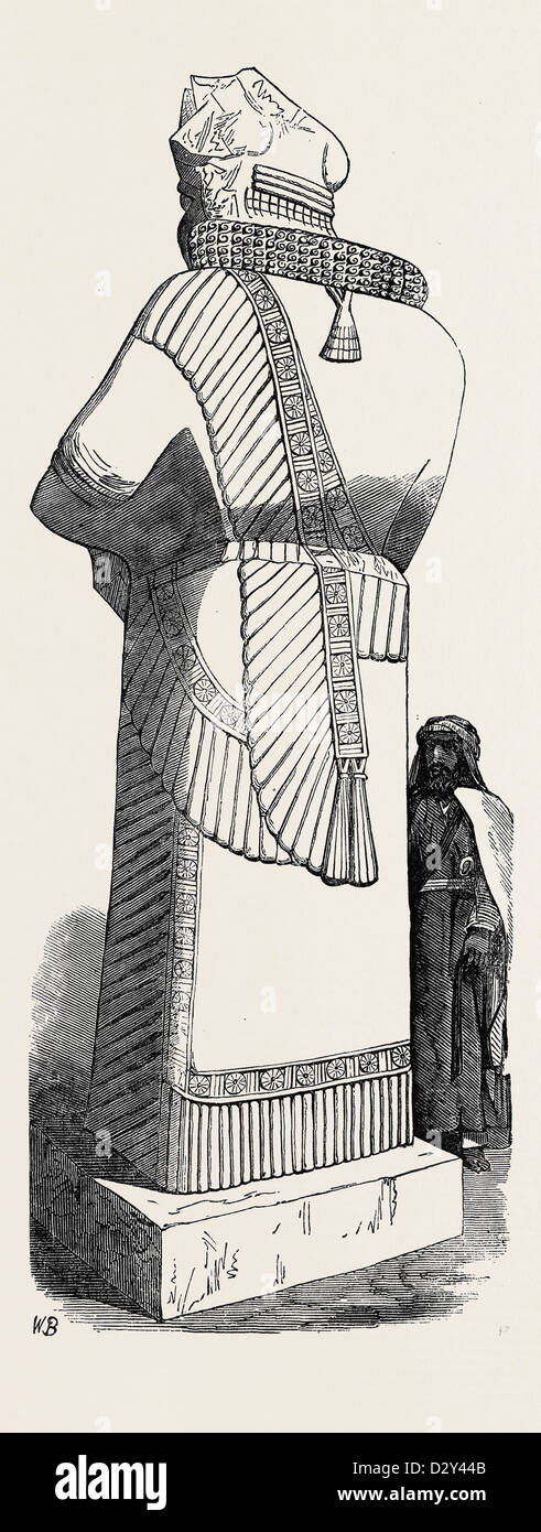 RECENT DISCOVERIES AT NINEVEH: COLOSSAL STATUE - Stock Image