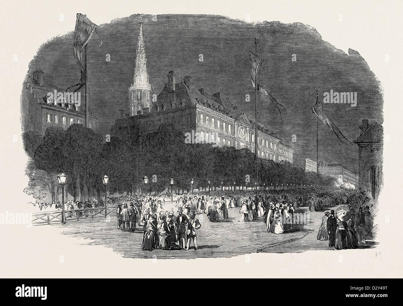 FETE AT STRASBOURG: THE ILLUMINATION AT STRASBOURG, 1852 - Stock Image