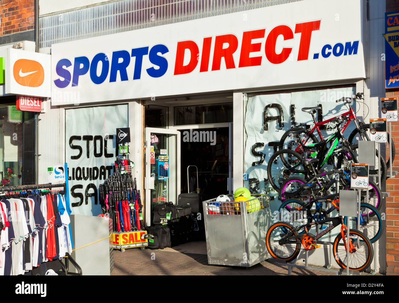 Sports Direct shop front - Stock Image