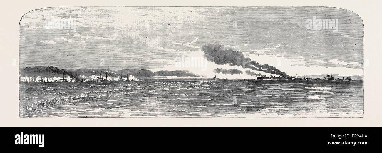 BOMBARDMENT OF KINBURN, OCTOBER 17, 1855 - Stock Image