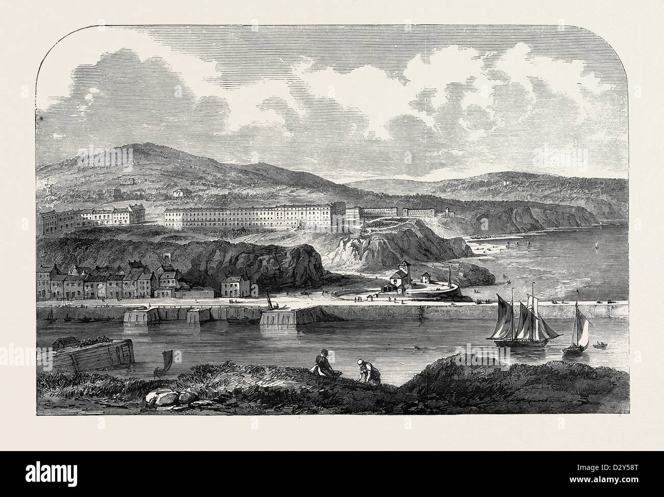 WHITBY, YORKSHIRE, 1852 - Stock Image