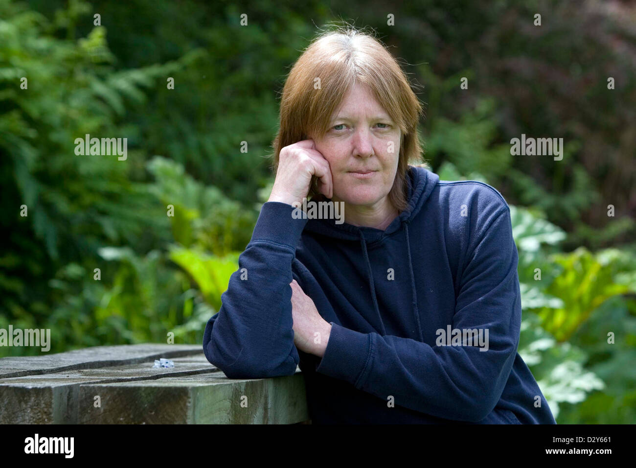 04.06.08. Jacqui Thompson at home near Llanwrda, West Wales. - Stock Image