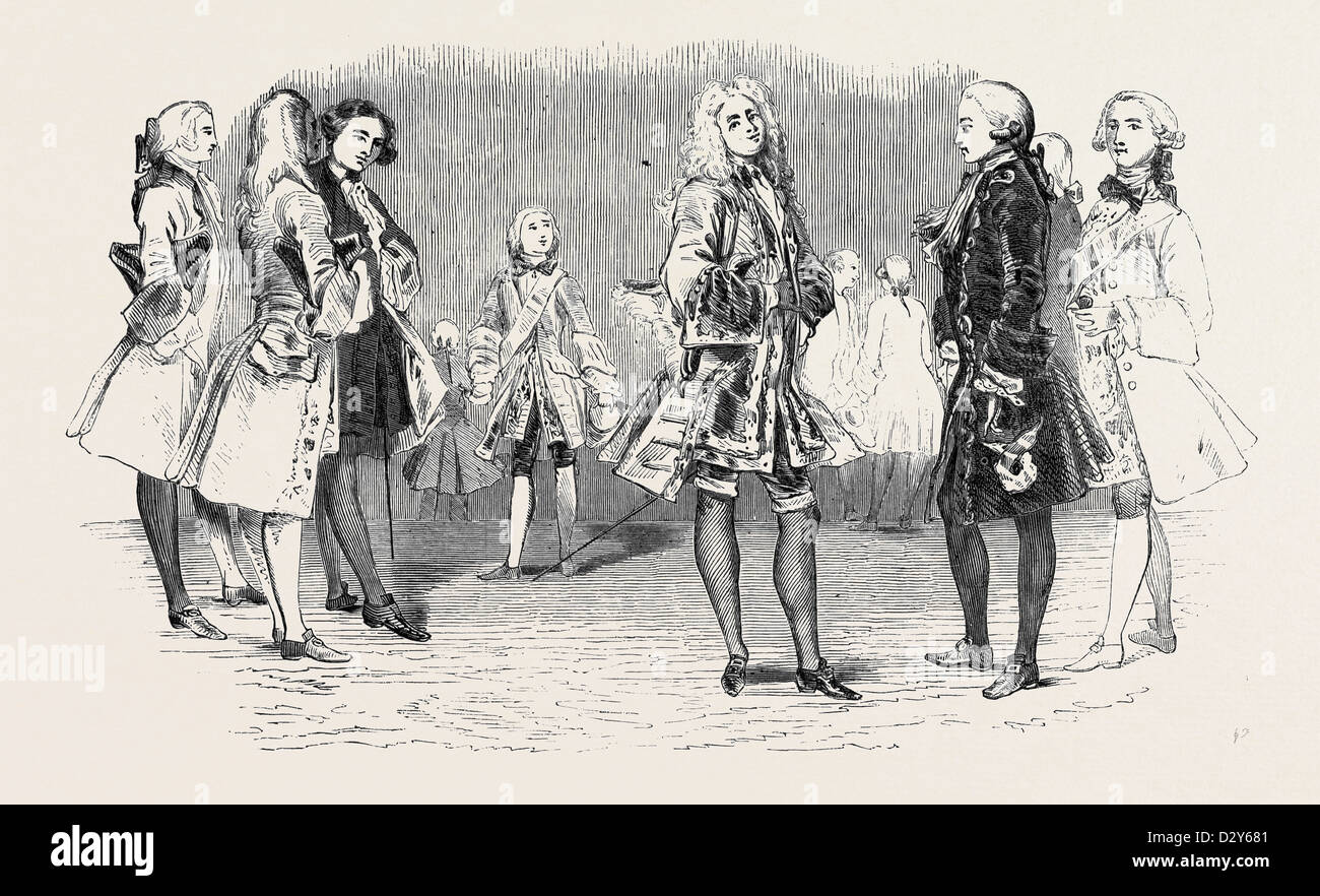 COSTUME OF 1740 AND 1750 - Stock Image