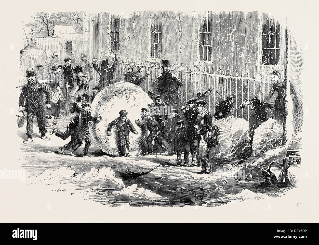 GATHERING AS IT GOES; or, THE MONSTER SNOWBALL - Stock Image