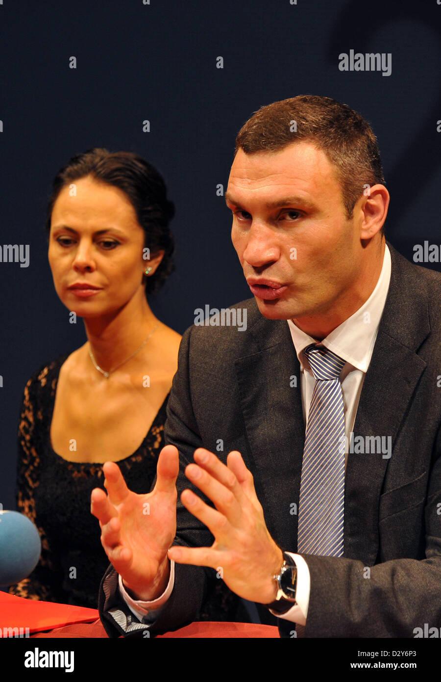 Wife Vitali Klitschko Natalia Klitschko Stock Photos & Wife