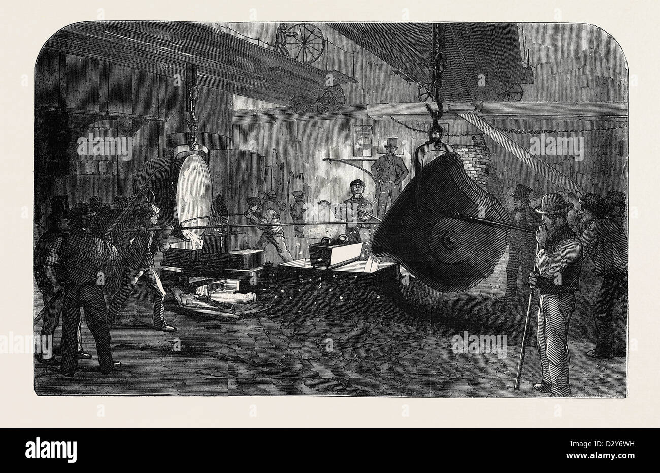 MORTAR CASTING, AT THE REGENT'S CANAL IRONWORKS Stock Photo
